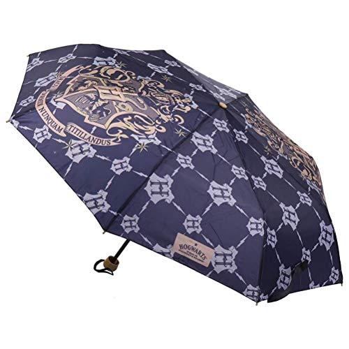 CERDÁ LIFE'S LITTLE MOMENTS- Paraguas de Mano Plegable de Harry Potter - Licencia Oficial Warner Bros, Color Azul Marino (2400000544_T53C-C55)