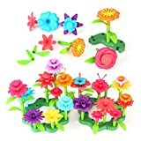 Powerextra 148Pcs Flower Garden Building Set Toy for Kids, Education Build Bouquet, Garden Arts Gifts for 3 4 5 6 7 Year Old Boys Girls
