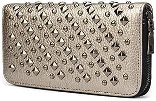 Blaq Ash Cool Fashion Women's Punk Style Spike Handbag Rivet Studded Long Wallet Phone Bag