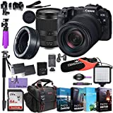 Canon EOS RP Mirrorless Digital Camera with RF 24-240mm Lens & Mount Adapter EF-EOS R kit Bundled w/Deluxe Accessories - Commander Pro Mic, High Speed Flash, 4-Pack Photo Editing Software & More