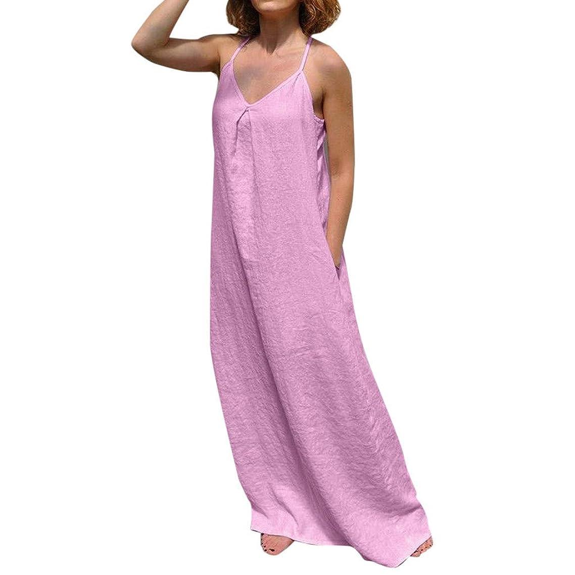 Summer Spaghetti Strappy Veck Sling Sleeveless Maxi Dress Beach Plus Size Vest Dresses