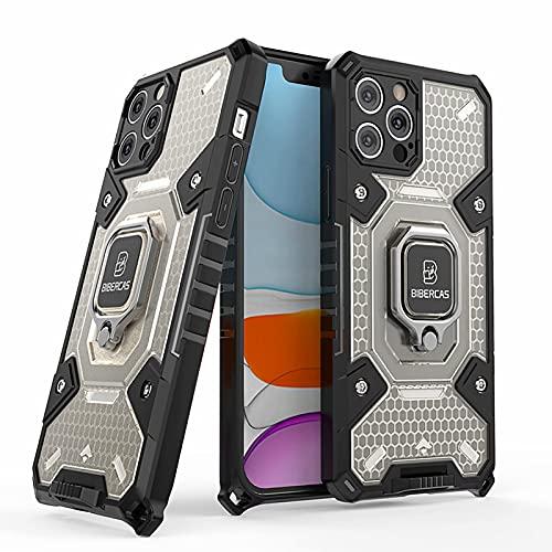 SCRENDY Hülle für Xiaomi Poco F3 Case mit 360° Ständer, Militärische...