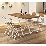 Mesa y silla plegables portátiles multifuncionales, mesa de comedor sencilla para el hogar, mesa y silla de jardín portátil para exteriores, combinación de mesa y silla de puesto plegable