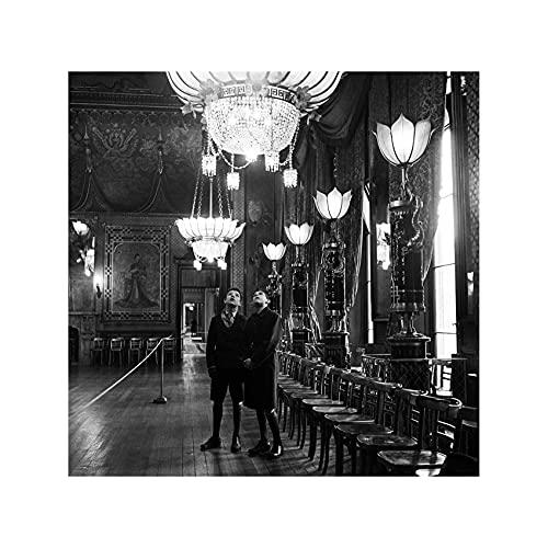 Two Boys Visiting Brighton's Royal Pavilion England 1954 Print 60x60cm