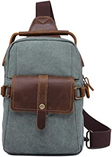 Mens Bag School Laptop Bag Hiking Travel Bag Waterproof Canvas Bag Mens Small Vintage Canvas Shoulder Bag High capacity