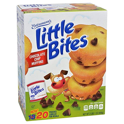 Entenmann's Little Bites Muffins 20 Pouches/80 Muffins Bonus 1 Individual Entenmann's Apple Pie (Chocolate Chip)