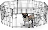 BUNNY BUSINESS 8 Panel Playpen Suitable for Rabbits/ Guineas/ Dogs and Cats, Small, Silver