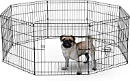 UNDERDOG 8 Panel Playpen Suitable for Dogs/Puppies/Cats & Rabbits foldable ideal for Indoor/Outdoor ...