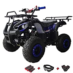 【Powerful & Stable 4 Stroke Air-cooled Engine】125cc of reliable, electric start 4-stroke fun feed into a gearbox, making this ATV a great choice for those getting started or moving up, and perfectly tuned to the rider starting to hone his or her ATV ...