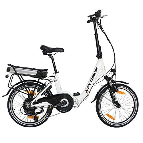 City Vibe, 20 Pulgadas, Bicicleta Eléctrica Plegable para Adultos, E-Bike con Motor 250W BAFANG, Batteria 36V 13AH, con Freno a V TEKTRO, Palanca de Cambios Shimano Tourney 7 Speed