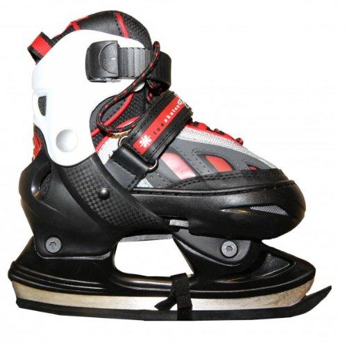 HUDORA Xpulse Schlittschuhe Ice Skates Black/Red/White Profi Schlittschuhe Kids Ice Skates, Schuhgrösse:29-32