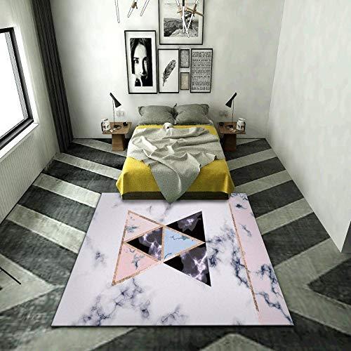 TANGYUAN Design vloerkleed Hedendaagse vloerkleed Woonkamer vloerkleed - Driehoekige ruit stiksels eenvoudig eigentijds vloerkleed met dik, geen afstoten en ademend vermogen