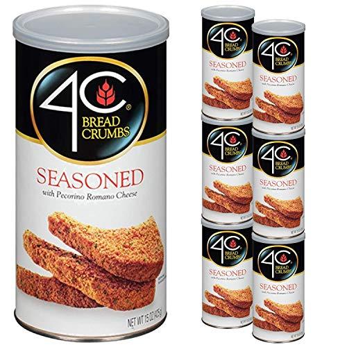 4C 6 Pack Bread Crumbs Seasoned 15oz