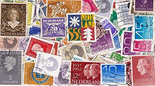 100 Verschiedene Briefmarken \'Holland\'  Briefmarken  gestempelt  Verschiedene Motive
