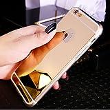 Carcasa Ikasus, para iPhone 8, iPhone 7móvil, [funda de cristal brillante, diseño de espejo] dorado