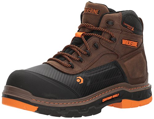 "WOLVERINE mens Overpass 6"" Composite Toe Waterproof Work Boot, Summer Brown, 10.5 US"