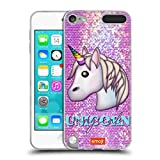 Official emoji Magical Unicorn Sparkles And Pastels Soft Gel Case Compatible for Apple iPod Touch 5G 5th Gen