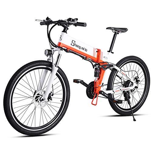 Shengmilo-M80 Mountain Bike elettrica 500w, E-Bike Pieghevole da 26 Pollici, Sospensione Completa 48V 13Ah e velocità Shimano 21