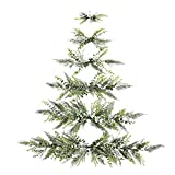 Mini Christmas Tree, This Minimal Wall-Mounted Christmas Tree Will Save Space in Smaller Homes, Wall Hanging Christmas Tree, Small Christmas Tree (with Bells)