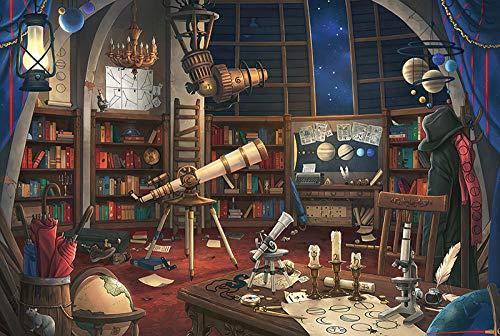 N/R Adulto Rompecabezas de Madera difícil 1000 Piezas telescopio Pareja descompresión Rompecabezas Sala de Juegos decoración Pintura