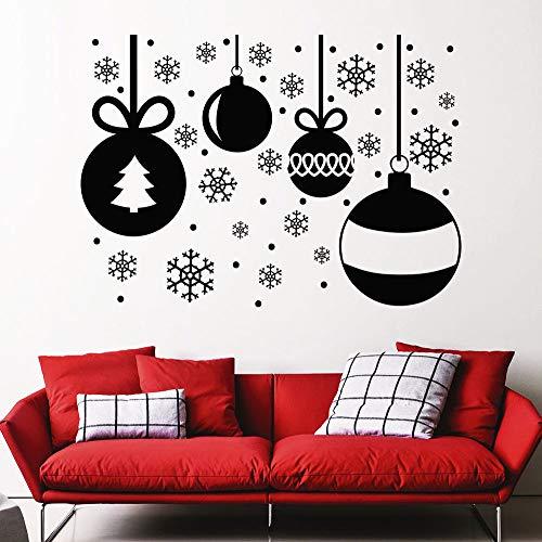 Sanzangtang Afneembare muursticker, laatste decoratie, festival, vinyl, winkel, raam, decoratie voor huis, muursticker, glas, sneeuwvlokken