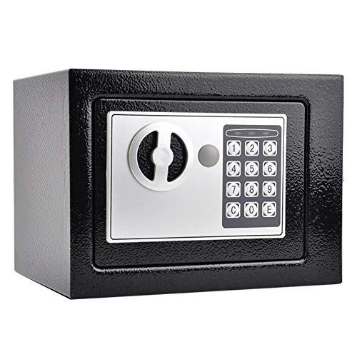 YMN Digitale kleine kluis, 17E all-steel veiligheid kluis met vol-cijferig cijfertoetsenbord en led-lichtindicatoren, voor thuis, kantoor, hotel