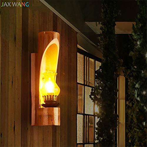 5151BuyWorld wandlamp van glas in Noordse aanbieding, bamboe, retro wandlampen, hoge kwaliteit voor het leven, hardloper, slaapkamer, hal, thuis