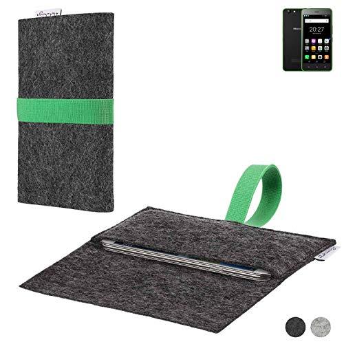 flat.design Handy Hülle Aveiro für Hisense Rock Lite passgenaue Filz Tasche Case Sleeve Made in Germany