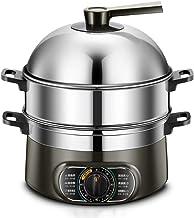 XJJZS Électrique à Vapeur Multifonction électrodomestiques Hot Pot Steamer 2-3 Couches de Grande capacité Hors Tension Aut...