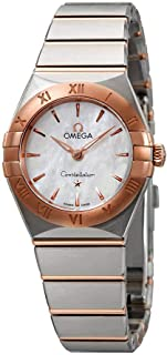 Omega Constellation Manhattan Mother of Pearl Dial Ladies Steel and 18kt Sedna Gold Watch 131.20.25.60.05.001