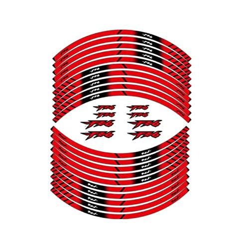 Qwjdsb para Yamaha FZ6, Pegatina Reflectante para Rueda de Motocicleta, calcomanía de protección para decoración de Llantas, calcomanías y Pegatinas para Llantas