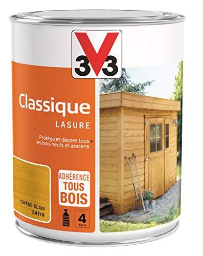 V33 Lasure Classique 4 ans, Chêne Clair, 1L