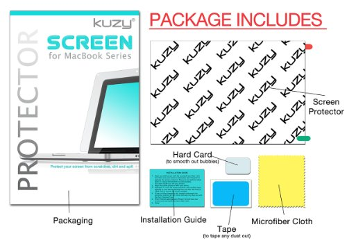 Kuzy - MacBook Pro 13 inch Screen Protector 2019 2018 Model A2159 A1989 A1706 A1708 Film Protector - Clear Crystal Finish