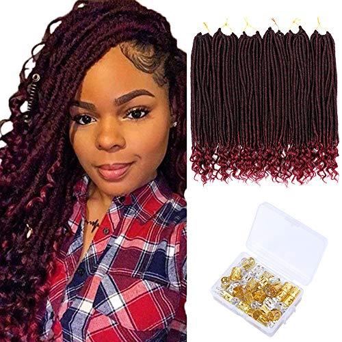 6 Pack Straight Faux Locs Crochet Hair...