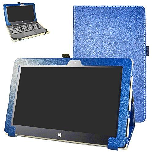 "Insignia Flex 11.6 NS-P11W6100 Case,Mama Mouth PU Leather Folio 2-Folding Stand Cover for 11.6"" Insignia Flex 11.6 NS-P11W6100 Windows 10 Tablet,Dark Blue"