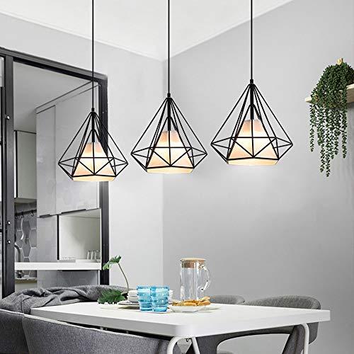 Luyshts Tres Candelabros Comedor Sala De Estar LED Negro Cálido Luz Amarilla Luz Moderna Minimalista Bar Retro Lámpara (Color : A)