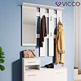 Vicco Flurgarderobe Set Billy weiß Garderobe Dielengarderobe Kompaktgarderobe (Weiß) - 4