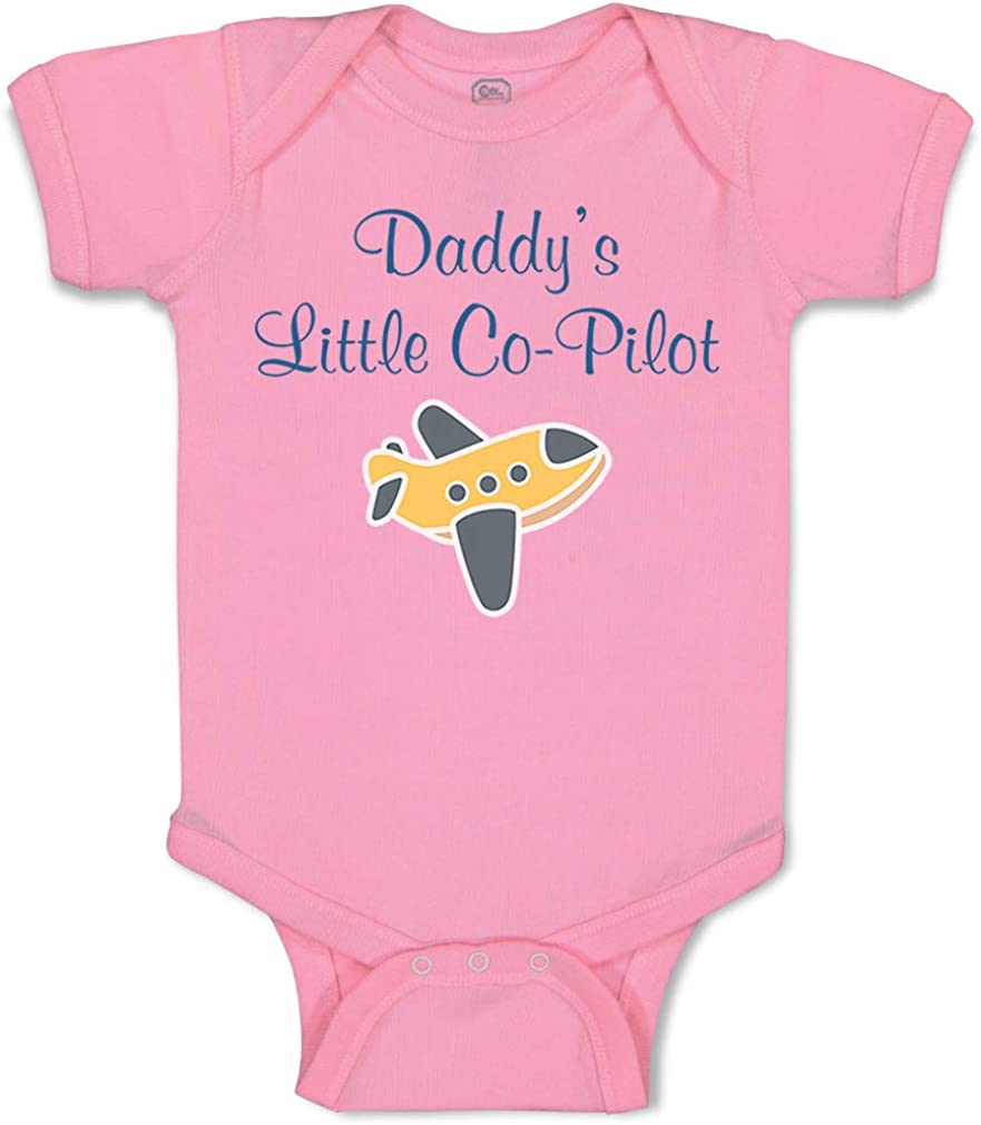 Custom Baby Bodysuit Daddy's Little Co-Pilot Dad Father's Day Western Cotton