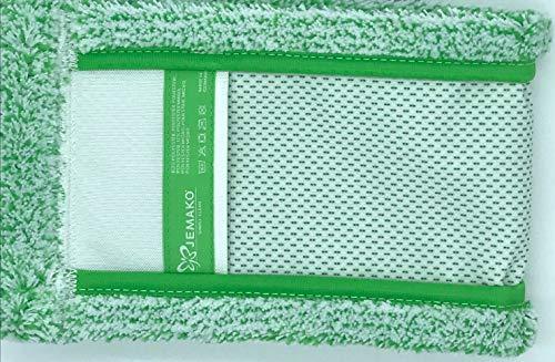 Jemako Bodentuch Bodenfaser grün Kurze Faser 42cm, Plus DiWa Wäschenetz