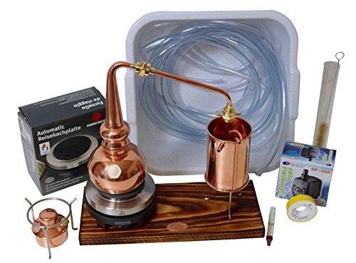 CopperGarden® Whisky-Destille ❀ 0,5 Liter ❀ Supreme Electric ❀ Sorgenfrei Set mit Pumpe und Zubehör