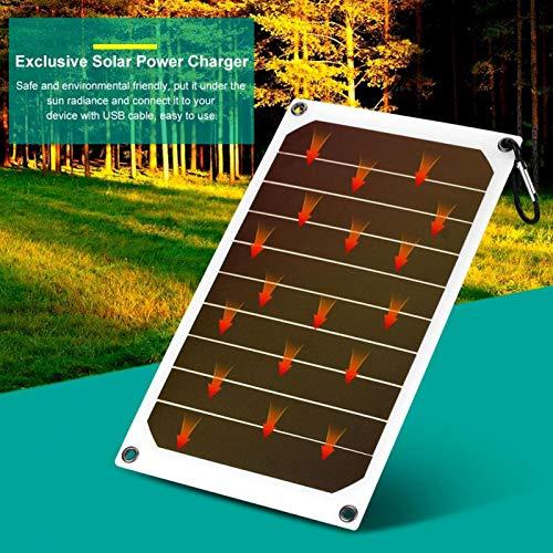 DAUERHAFT Panel Solar Cargador de energía móvil Panel Solar Salida USB 5V Caja Fuerte Duradera para Exteriores, con Mini Ventosa, para cámaras