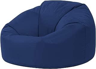 Color Azul Sill/ón tipo puf impermeable para interiores y exteriores de Bean Bag Bazaar Puf para videojuegos reclinable de dise/ño con reposapi/és a juego DE REGALO