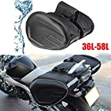 Shuaike Motorcycle Bag 2019 Newest SA212 Motorcycle Waterproof Racing Race Moto Helmet Travel Bags Suitcase Saddlebags + One Pair of Raincoat (Color Name : Oxford and Plastic)