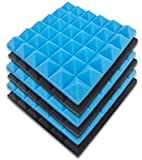 EACHPT Pannello in Schiuma Di Isolamento Acustico, Cotone Fonoassorbente a Scanalatura Triangolare 6 Pezzi, Cotone Fonoassorbente Per Interni Utilizzato Negli Studi Di Registrazione