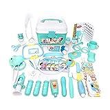 Toy Kit de niños que hagan de la enfermera juguetes de plástico azul de rol conjunto de juguete con lleva la caja de almacenamiento regalos de cumpleaños 46PCS, Juguetes para niños