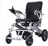 WXDP Silla de ruedas autopropulsada, plegable, eléctrica, multiuntional dual motor inteligente discapacitado para días festivos fuera y viajes de compras