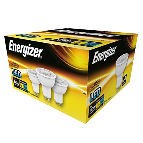 Ampoule à intensité variable Energizer GU10, Plastique, blanc chaud, 5W, GU10