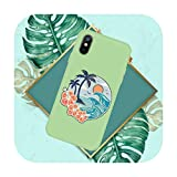 Hot Sea Wave Surf Summer Surf Ocean Phone Case Color Candy para iPhone 11 12 Mini Pro XS MAX 8 7 6 6S Plus X SE 2020 XR-a10-6Plus 6SPlus