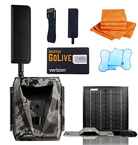 Spartan GoLive Solar Kit Bundle Deal with Mr.Towels Edgeless Microfiber Towel (GoLive Verizon GL-VLTEb)