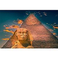 エジプトのピラミッドのポスターとプリントスフィンクスHDキャンバス絵画壁アートの装飾リビングルームの有名な風景写真50x75cmフレームレス